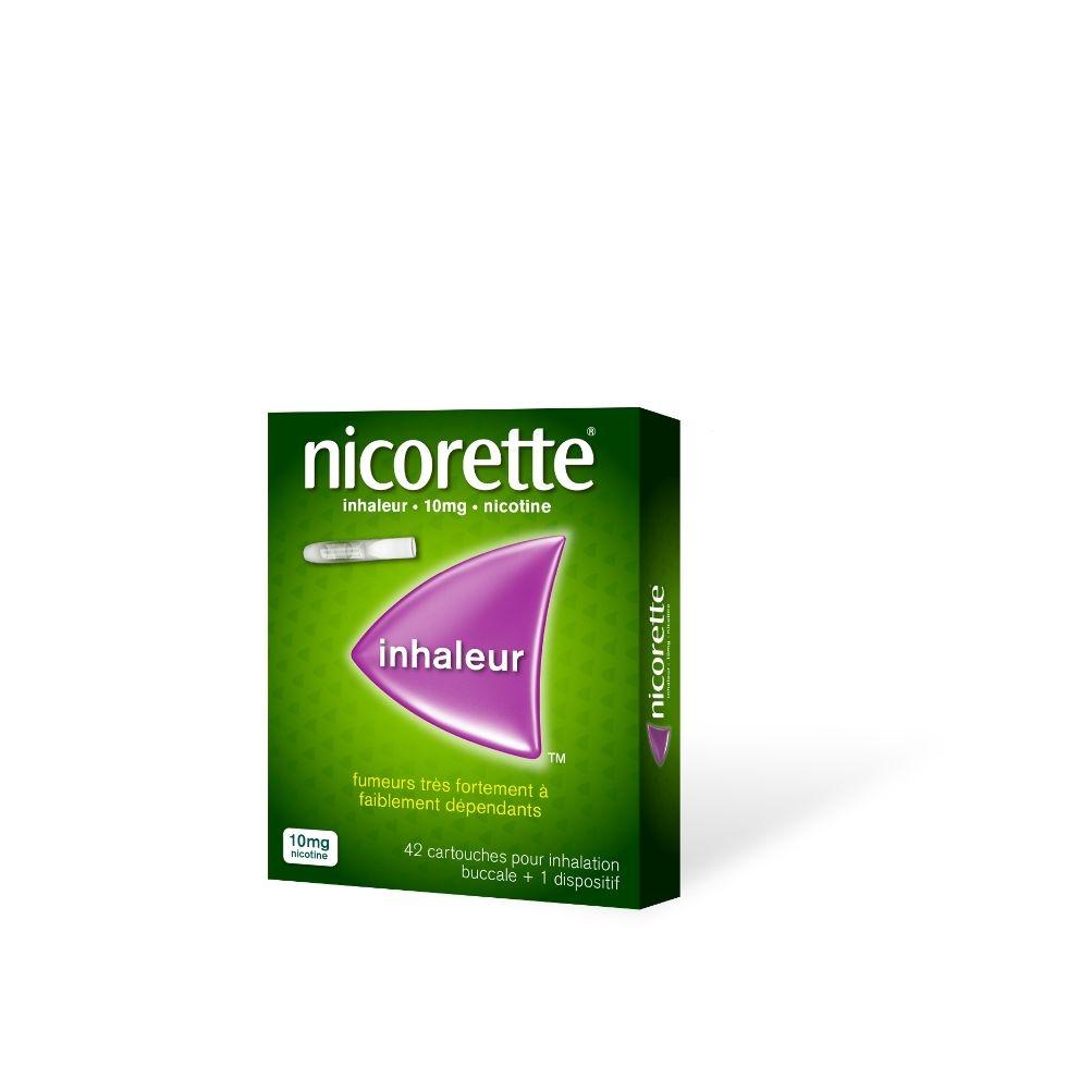 Photo d'un pack inhaleur Nicorette avec 42 cartouches