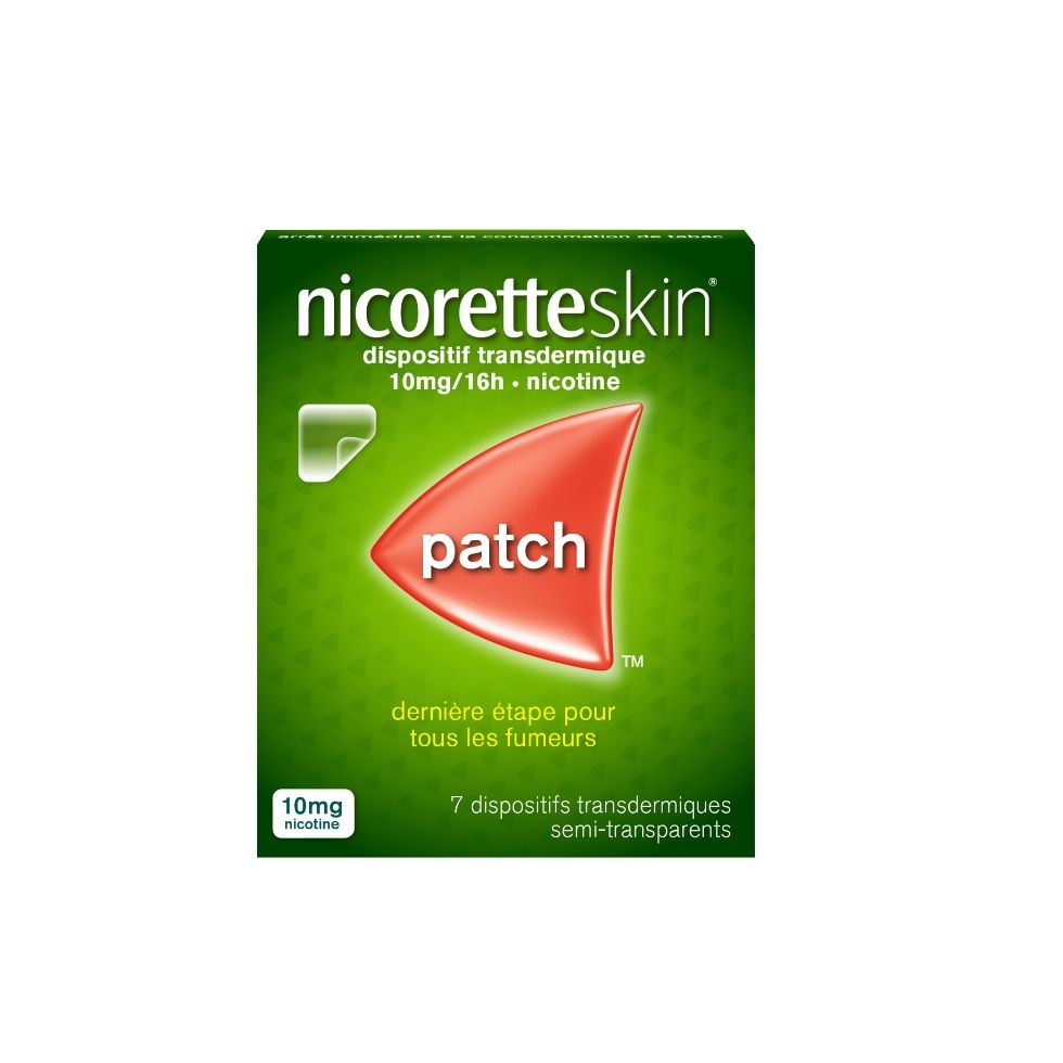 Photo d'un pack de patch Nicoretteskin 10mg par 7
