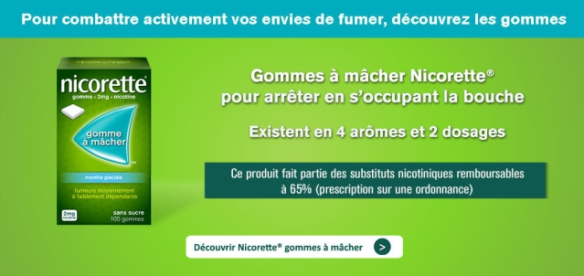 Illustration des gommes à macher Nicorette
