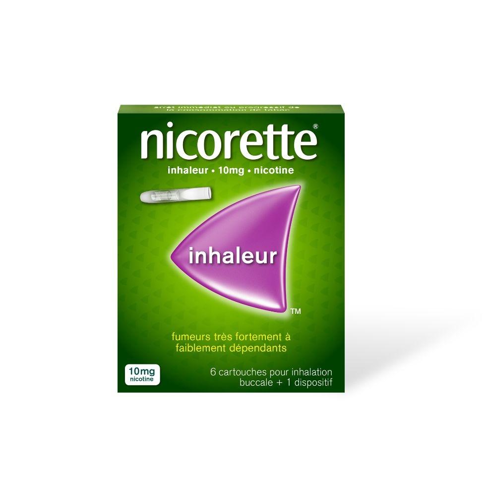 Photo d'un pack inhaleur Nicorette avec 6 cartouches