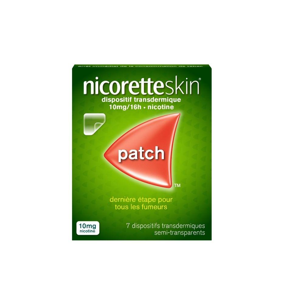 Photo d'un pack de patch Nicoretteskin 10mg par 7