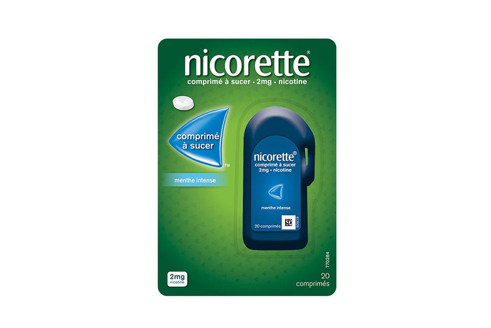 Packshot des comprimés à sucer Nicorette