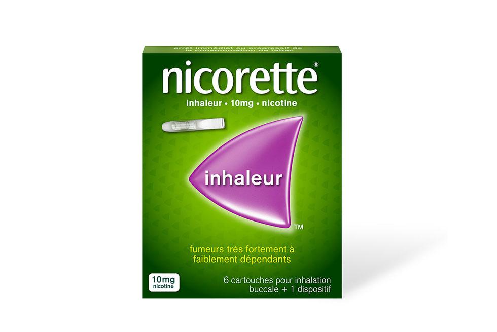 Packshot de l'inhaleur Nicorette